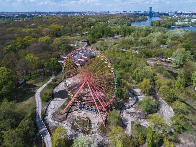 Aerial view with the Ferris wheel. A.Savin