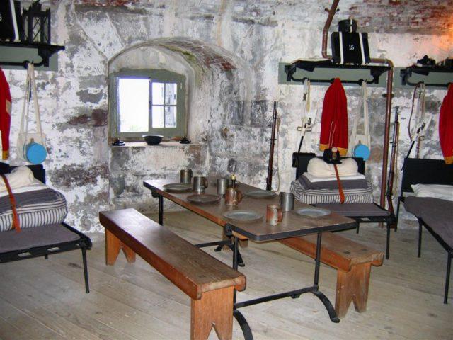 Restored interior of Carleton Martello Tower at Saint John, New Brunswick.Author: Vanished user 03CC BY-SA 2.5
