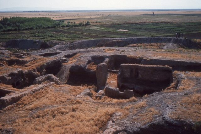 Çatalhöyük at the time of the first excavations. Photo Credit