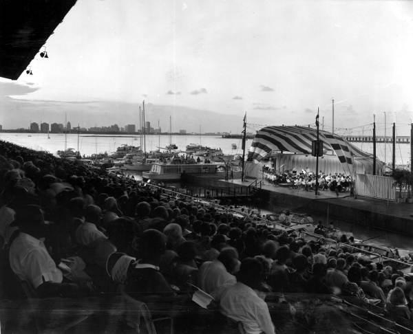 Evening concert on Biscayne Bay, 1967.