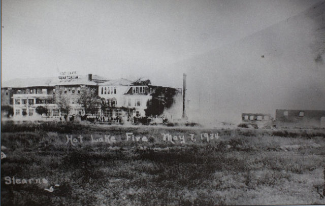 Hot Lake Fire 1934.