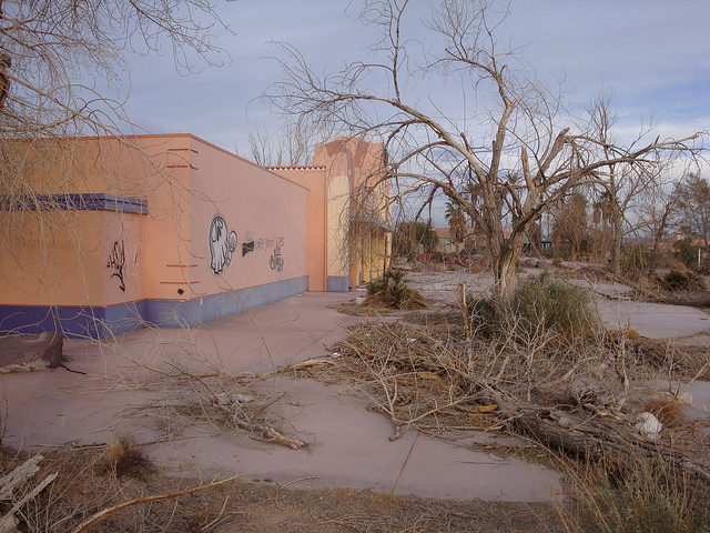 Abandoned waterpark building.Author: Jeff KernCC BY 2.0