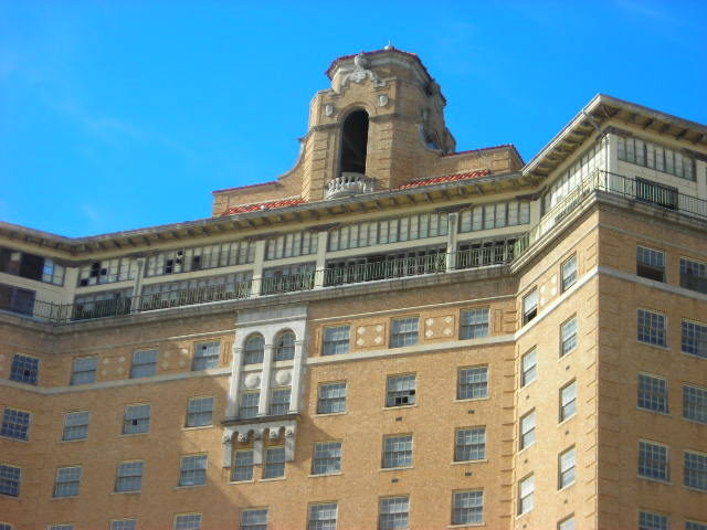 The Baker Hotel bell tower and ballroom.