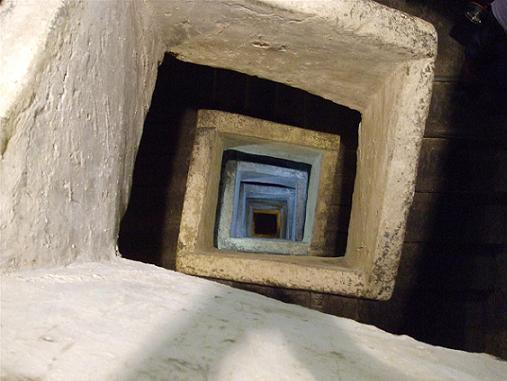 During World War II, spiral stairs were built.