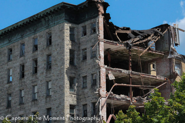 Partly demolished – different angle. Photo Credit