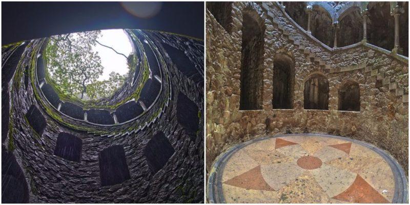 The Initiation Well at Quinta da Regaleira near Sinta, Portugal