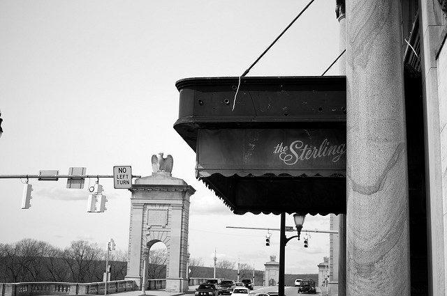 Sterling Hotel entrance.