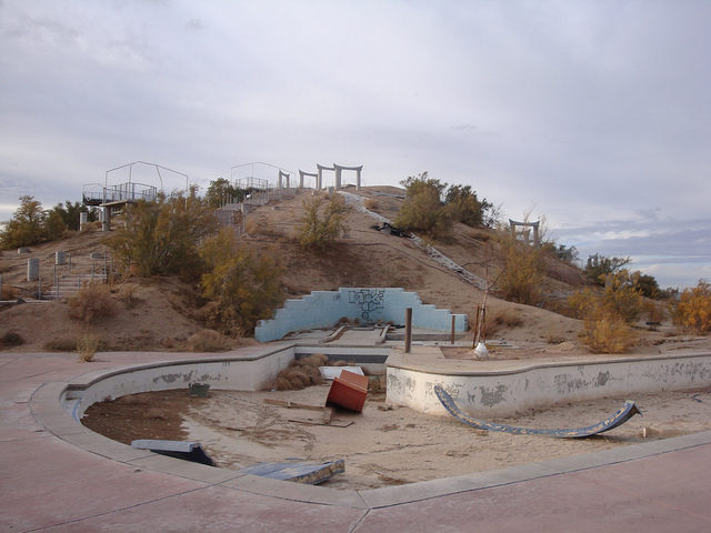 The empty pools of Rock-A-Hoola. Author: Jeff KernCC BY 2.0