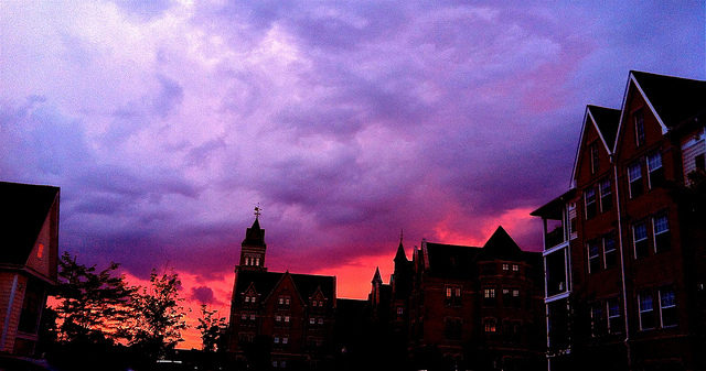 The purple sky above Danvers.Author:MariaElena1969 CC BY 2.0