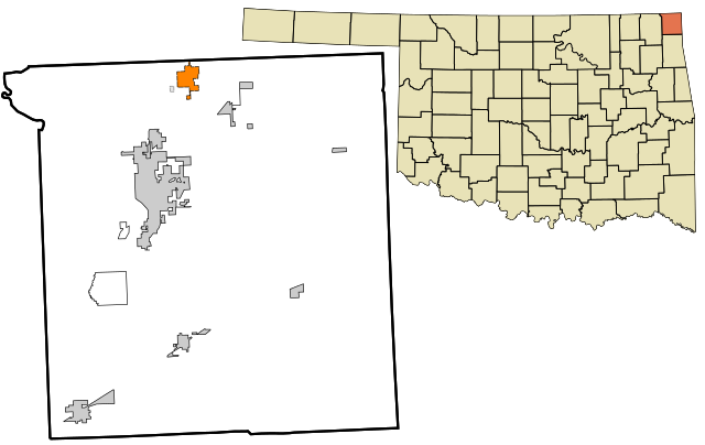 Location within Ottawa County showing former municipal boundaries/ Author: Rcsprinter123 – CC BY 3.0
