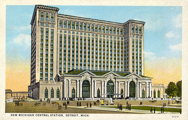 Postcard of the Michigan Central Station (c.1914)