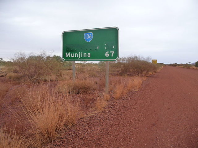 Wittenoom has been removed from road signs and maps. Author: Five Years. CC BY-SA 3.0