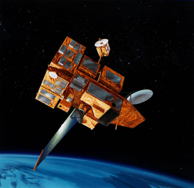Artist's drawing of the ADEOS II satellite.