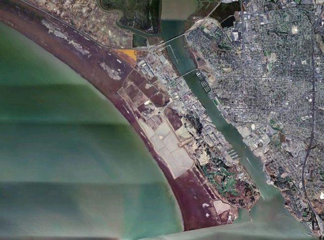 Aerial photo of Mare Island and the shipyard facility.Finlay McWalterPublic Domain