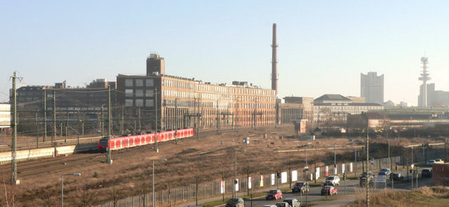 Rear of the Continental plant in Hanover-Vahrenwald