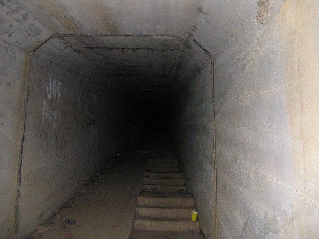 Deep in the dark steam tunnel.Author:Aaron VowelsCC BY 2.0