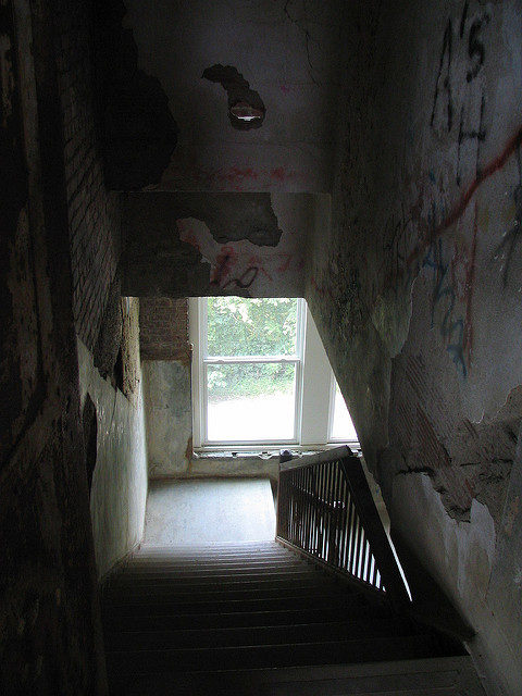 Down the stairwell.Author:Aaron VowelsCC BY 2.0