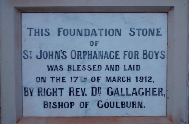 Foundation stone of the St. John's Orphanage. Author: Burklemore1 CC BY-SA 4.0