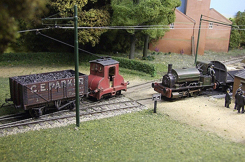 Hellingly Hospital Railway model. Author: Phil Parker.CC BY 2.0