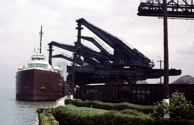 Huletts at the PRR ore docks at Cleveland.