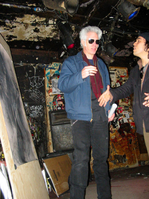 American film director Jim Jarmusch at CBGB's club in New York City on November 30, 2003. Author:Chrysoula Artemis. CC by 2.0