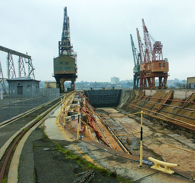 Mare Island Drydock No. 1. Author:TomincalCC BY-SA 3.0