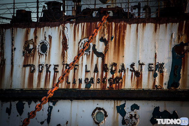 Name covered in rust. Author Geoff TudnoCC BY-ND 2.0