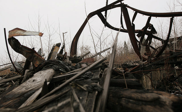 Nothing but a pile of wood and metal is left after years of scraping.Author:Dana BeveridgeCC BY 2.0