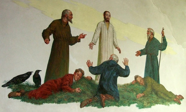 One of the murals in the chapel.Author:Jenny ThorpeCC BY-SA 2.0