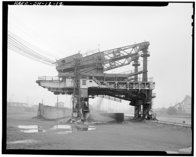 Ore unloading dock, looking south. Author: National Park Service employeePublic Domain
