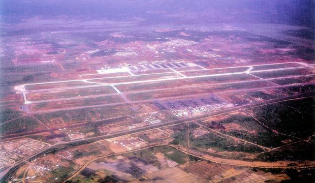 Aerial photograph of Phan Rang Air Base, South Vietnam.