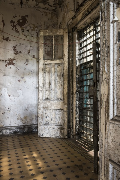 A portion of a cell block at the West Virginia State Penitentiary.