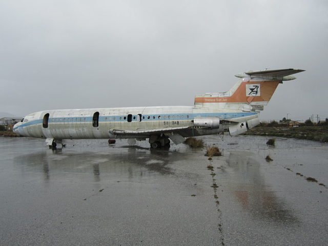 Remains of Cyprus Airways. Author: Dickelbers CC BY-SA 3.0