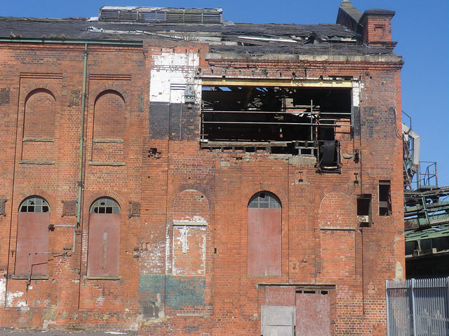 The deteriorating factory. Photo Credit