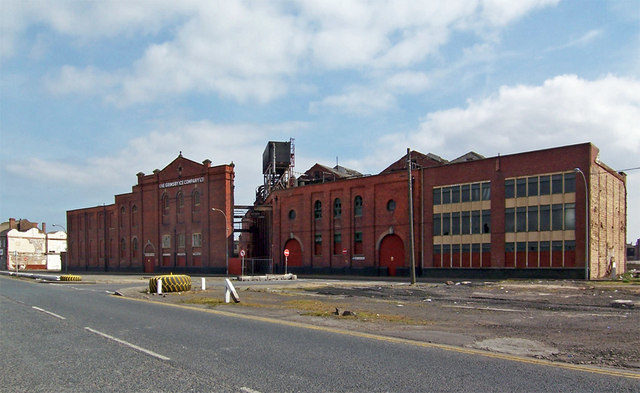 The facade off the Grimsby Ice Factory. Photo Credit