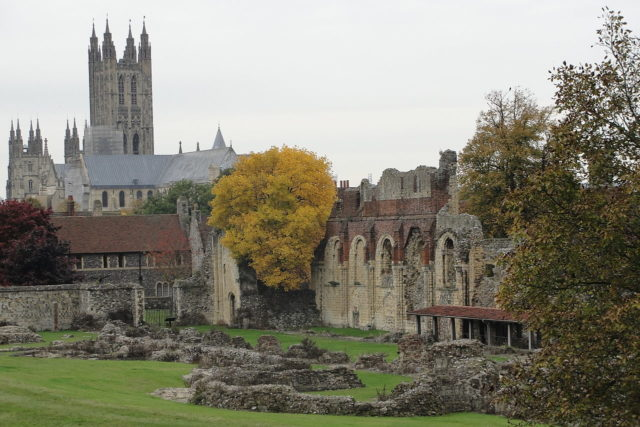 The ruins of the St. Augustine's Abbey. Author: Nessy-Pic. CC BY-SA 3.0