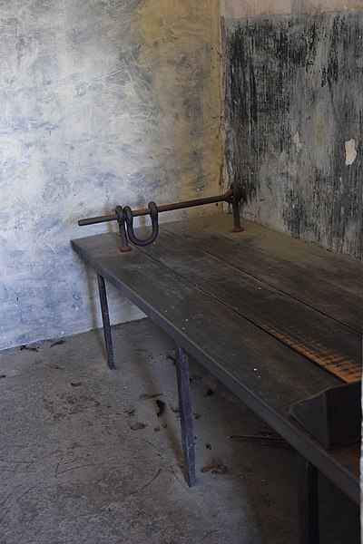 The solitary confinement bed. Author:Chatsam CC BY-SA 3.0