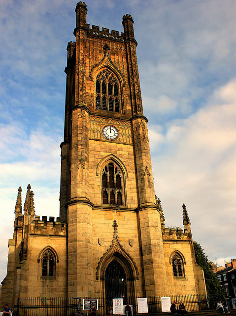 The tower of St. Lukes Church. Author: calflier001 CC BY-SA 2.0