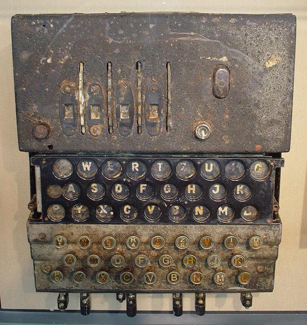 U-534 Enigma machine. Author: Rept0n1x CC BY-SA 2.0