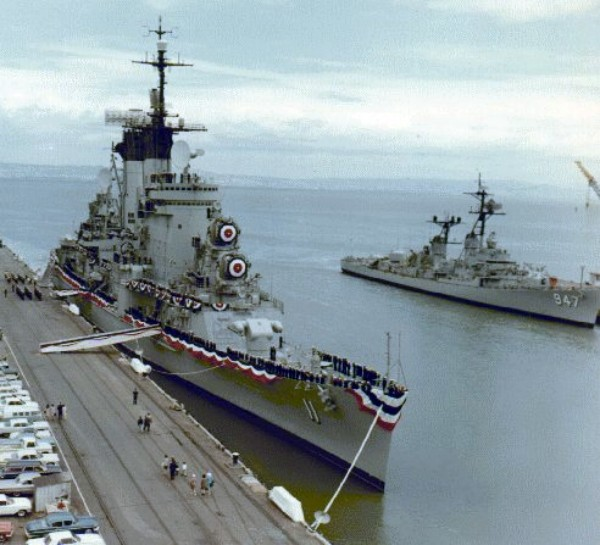 USS Chicago CG-11 commissioning 1964. Author: USN; The original uploader was Robinr57Public Domain
