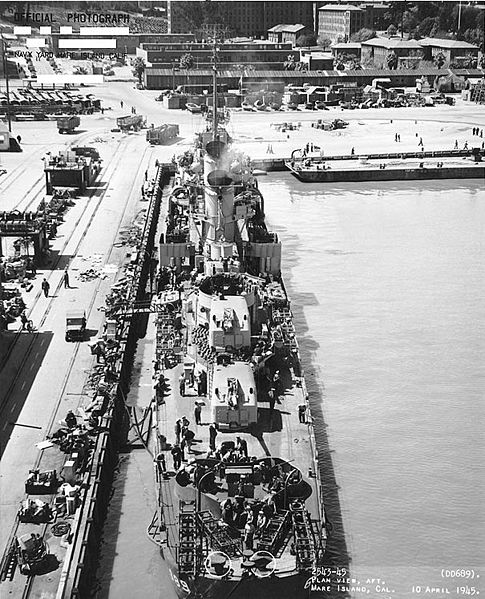 USS Wadleigh at Mare Island Naval Yard. Author:Naval Historical CenterPublic Domain