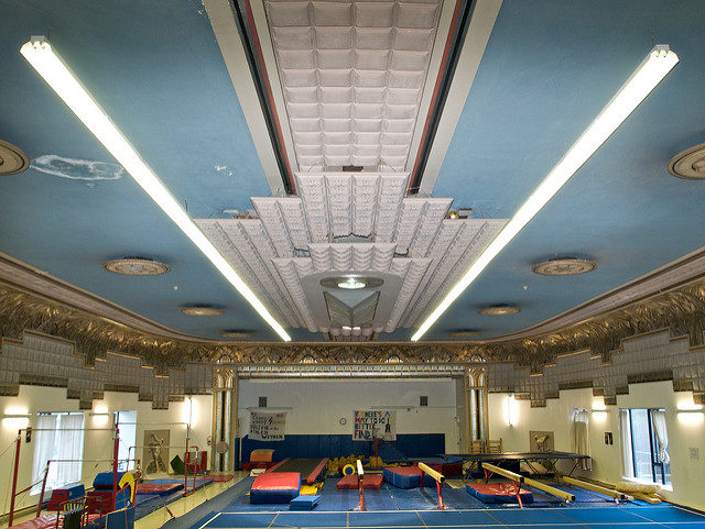 The former gymnastics studio. Author: Sandra Cohen-Rose. CC BY-SA 2.0