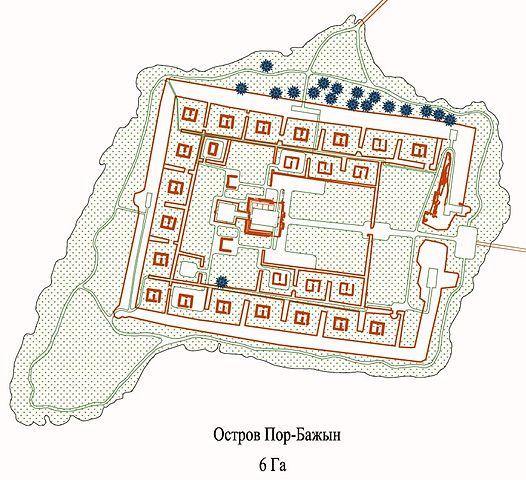 Vajnstejn's plan of the site. Author: Por-Bajin Fortress Foundation – CC BY 4.0