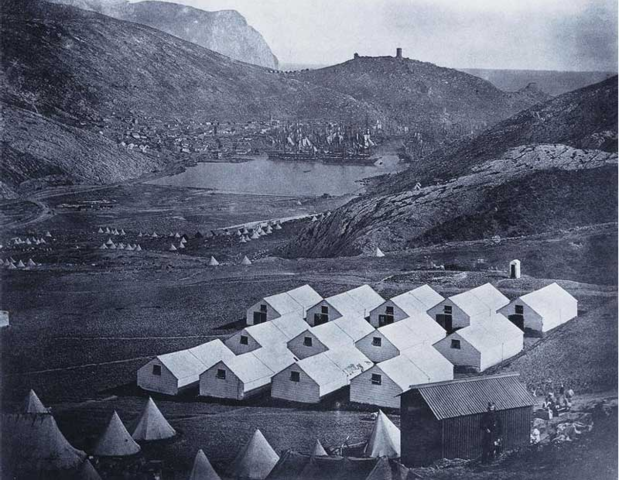 Army camp at Balaklava during the Crimean War.