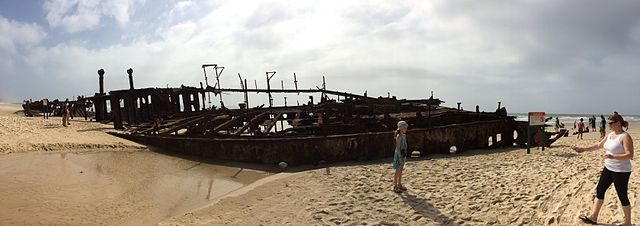 The wreck in 2013/ Author: Letsbefiends (talk) – CC BY-SA 3.0