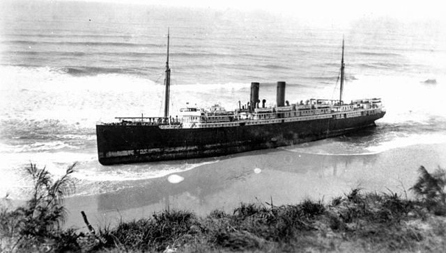 In 1935 the ship was beached