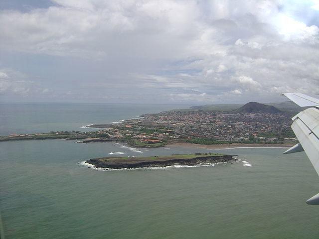 Aerial view of Praia