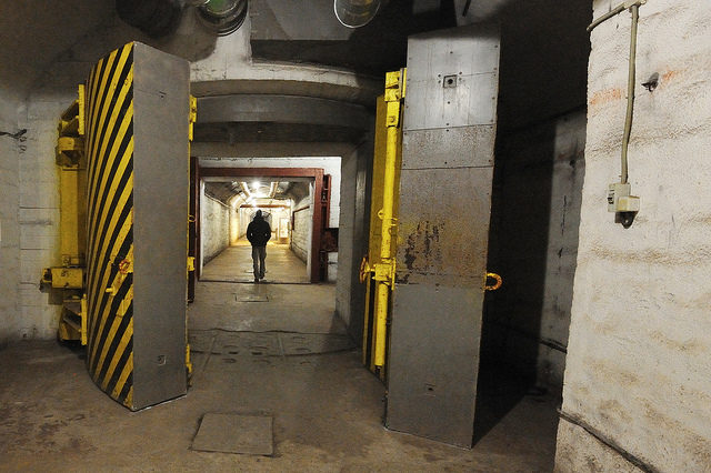 The weapons room in the former Balaklava submarine base, where dangerous firepower was kept behind thick metal doors. – Author: Land Rover Our Planet – CC BY 2.0
