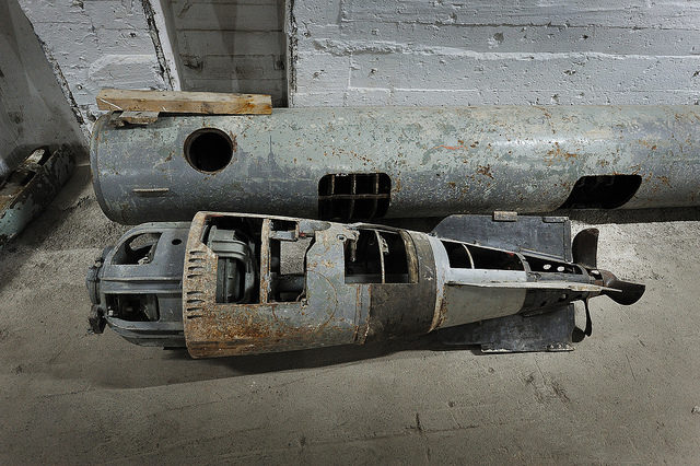 Disarmed torpedo inside the Balaklava base – Author: Land Rover Our Planet – CC BY 2.0