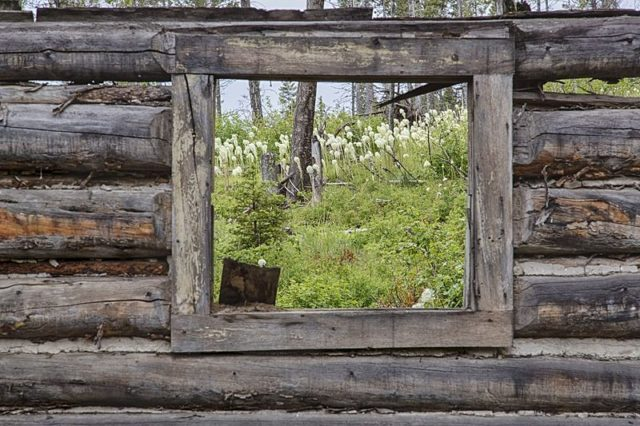 View through a window. Author: Bureau of Land Management – Garnet Ghost Town, Montana Public Domain